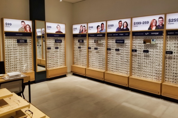 Eye glasses stores provide an experiential display