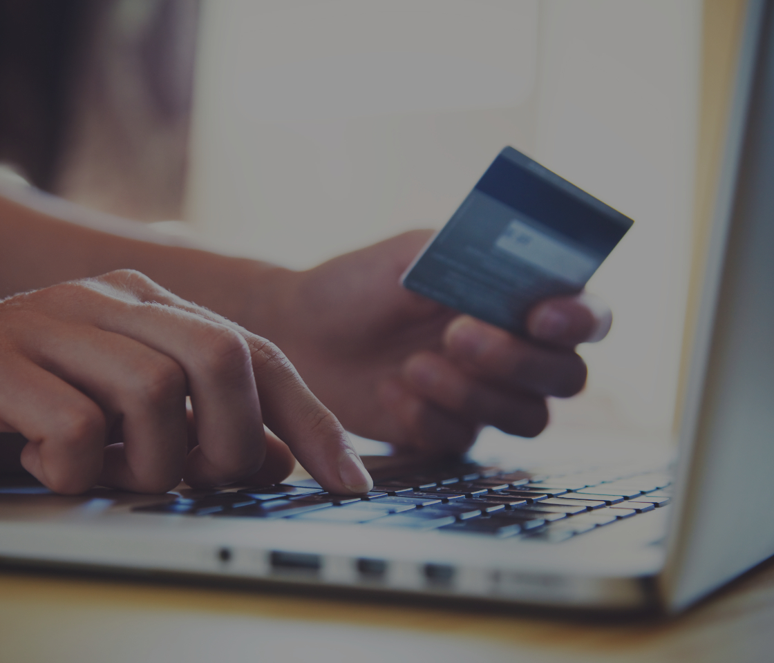 A consumer buying online with a credit card