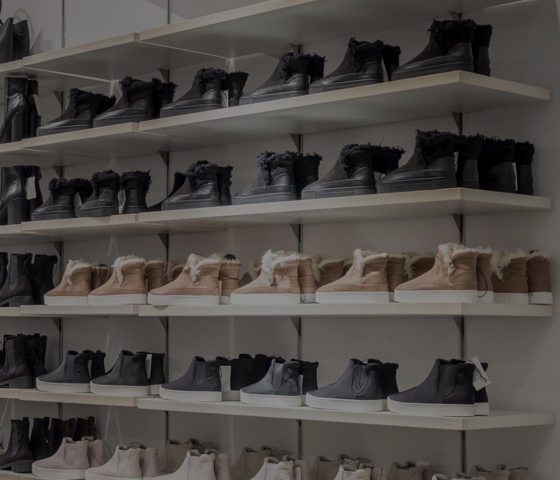 Custom shelving for shoes