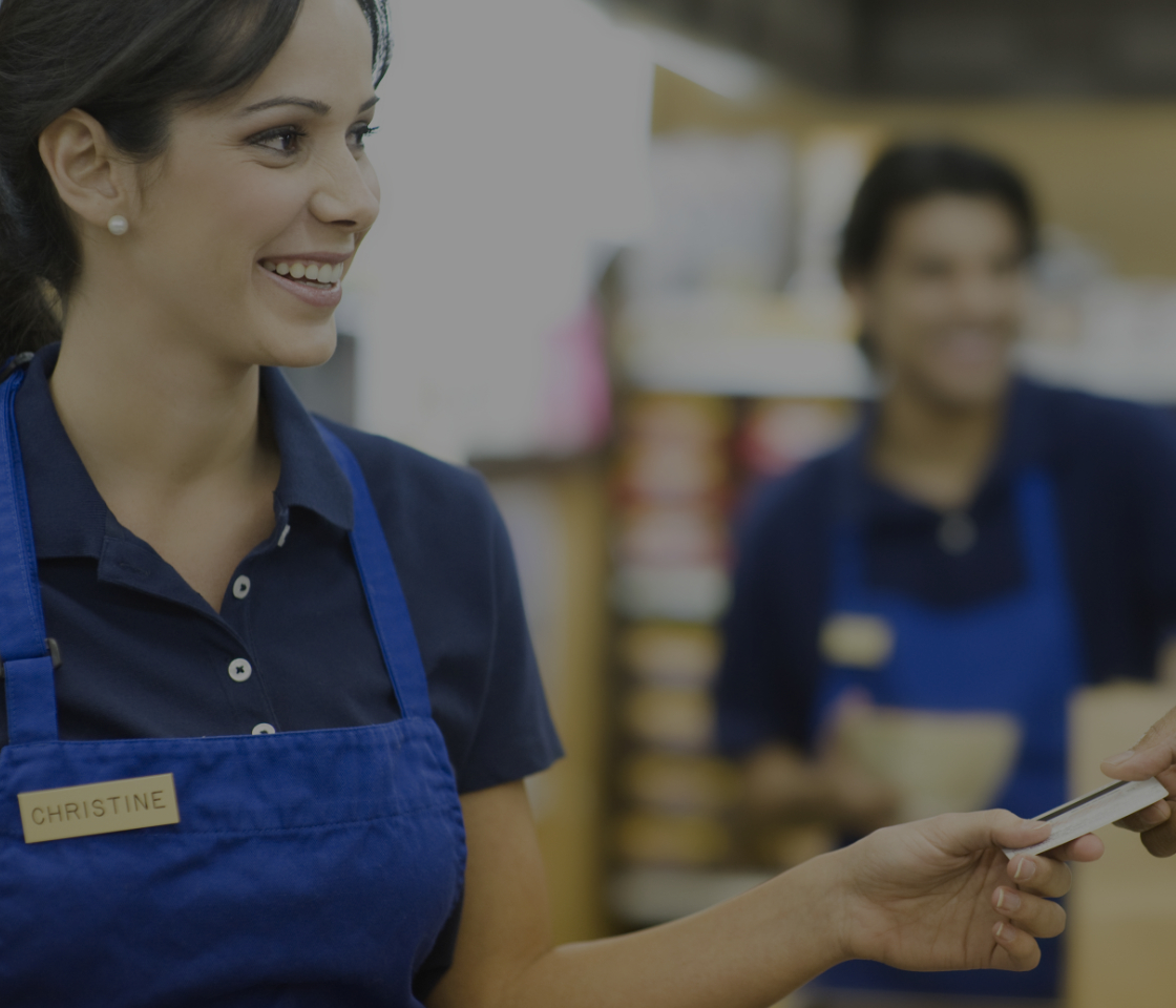 Employees in a retail store